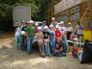 This is my freshman English Class working with Habitat for Humanity